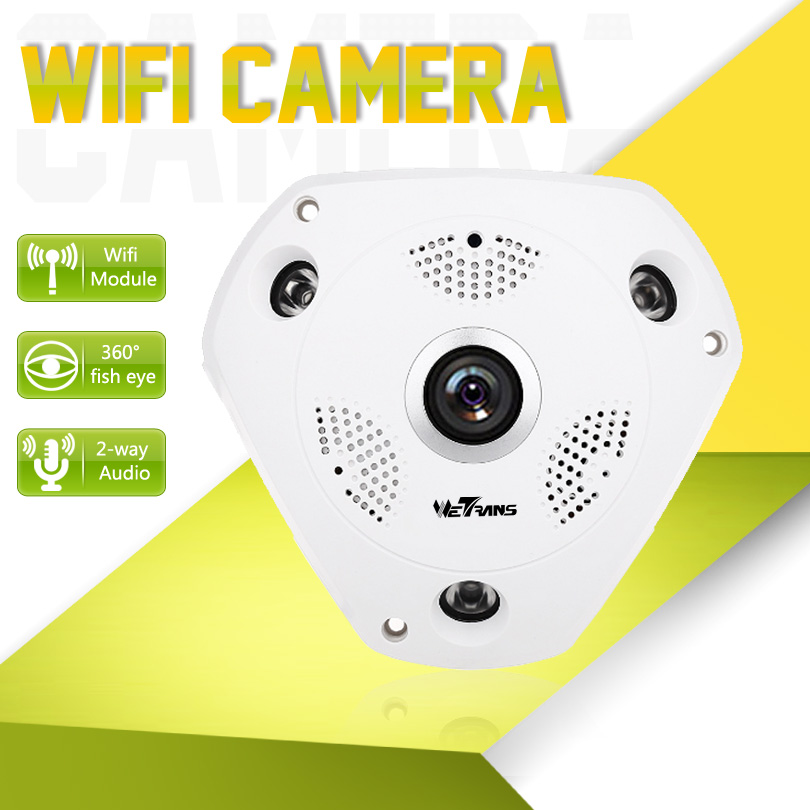 VR Wifi Camera Panoramic 960P 15m Night Vision P2P Smartphone View 128G Micro SD Card Wireless IP Camera HD Security Wifi Camera insta360 air 3k hd 360 camera dual lens panoramic camera compact mini vr camera for samsung oppo huawei lg andriod smartphone