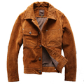 2014 The new  Thicken The first layer Brogues leather Leather clothing  Matte Distressed Men's leather jackets
