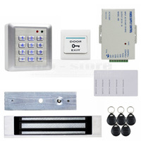 DIYKIT Водонепроницаемый 125 КГц RFID Считыватель Пароль Клавиатуры Дверей Система Безопасности Контроля Доступа 180 КГ Магнитный Замок Дверной З