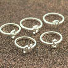 5PCS/bag Fashion silver ring 925 sterling silver letter conventional woman ring Unique jewelry H S J P D Conventional 6 7 8 9(China)