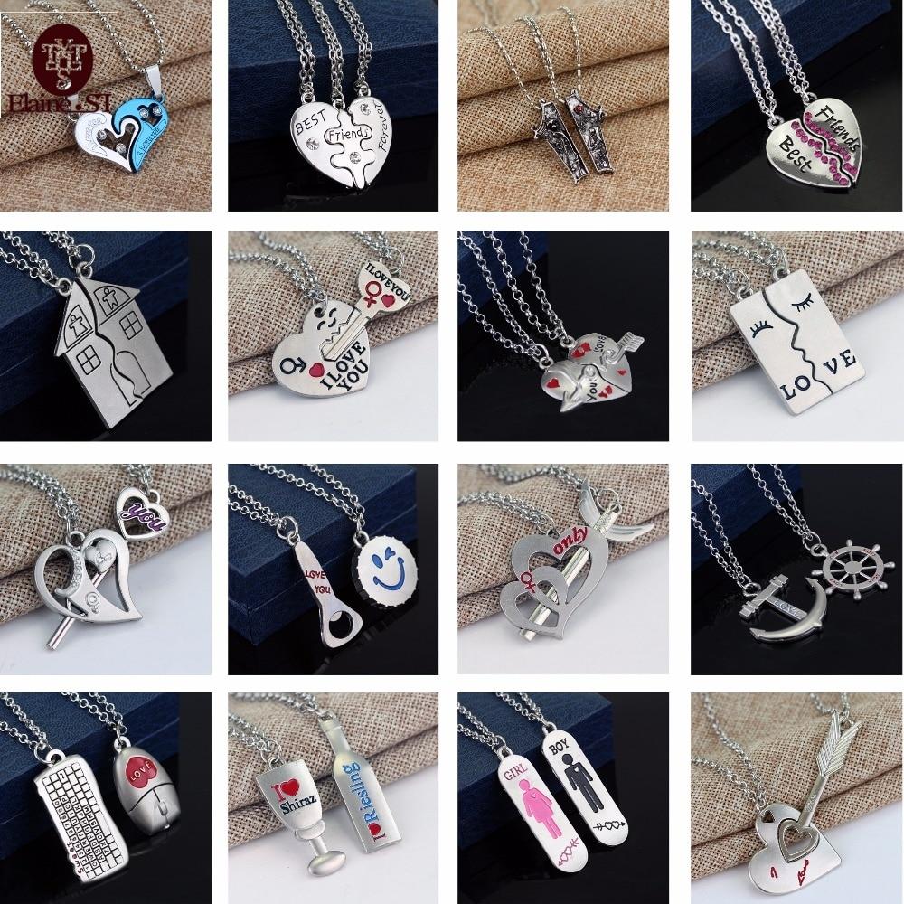 19 Kinds Of Fashion Style Sale Korean Couple Necklaces Set Pendant Necklace Star Wars Necklace