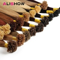 Alishow Fusion Hair Extensions 1g Strands Remy Hair Pre Bonded Keratin Hair Extension On The Keratin
