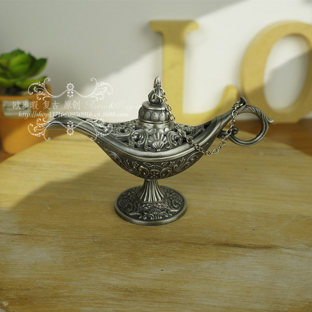 Wholesale 10pcs Decorate Silver Russian Aladdinu0027s Lamp Colored Tea Pot  Genie Lamp Flower Flagon Tools Wedding