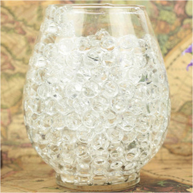 2500pcsbag Colorful Magic Pearl Vase Filler Shaped Crystal Soil