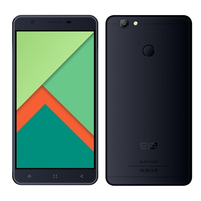 "Elephone C1X 4G Smartphone Android 6.0 5.5"" MTK6737 Quad Core 1.3GHz 2GB 16GB AAC Box Speaker Fingerprint ID Dual SIM Cellphone"
