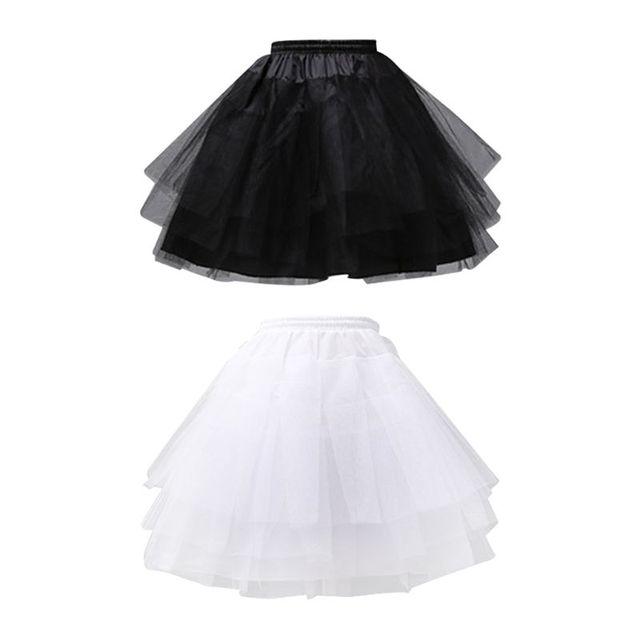 b8580ef394ab3e € 5.32 20% de réduction|Couleur unie Ballet Tulle court Crinoline jupon  Multi couches robe de bal Lolita sous jupe ceinture élastique avec cordon  ...