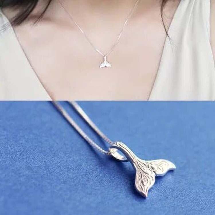 Женское Ожерелье в виде банта, из стерлингового серебра 925 пробы