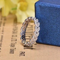 Top Quality Fashion Personality Flash Cubic Zirconia Flowers Ring For Women