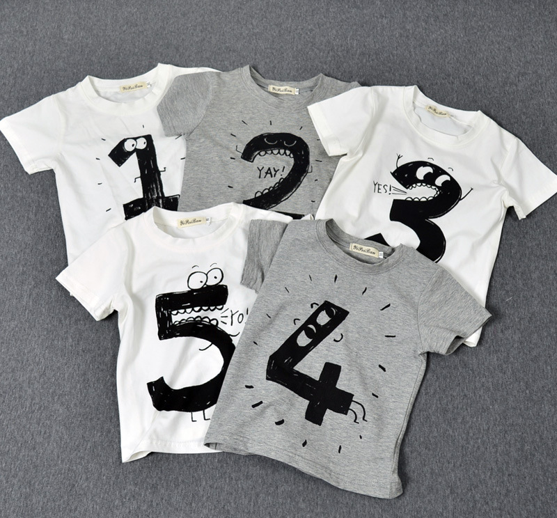 Preax kids new summer children 39 s tops boy kids number for T shirt printing for babies