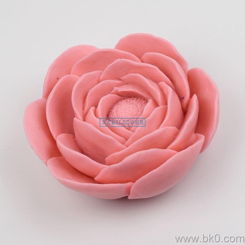 BJ006 offre spéciale 3D grande taille fleurs moule Silicone caoutchouc savon bougie artisanat résine moules