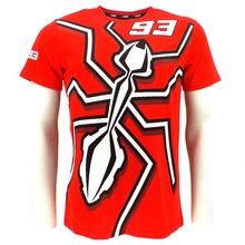 Moto GP Marquez 93 Grande Formiga T-shirt Da Motocicleta Esportes De Corrida de Motocross MX ATV Racewear Vermelho