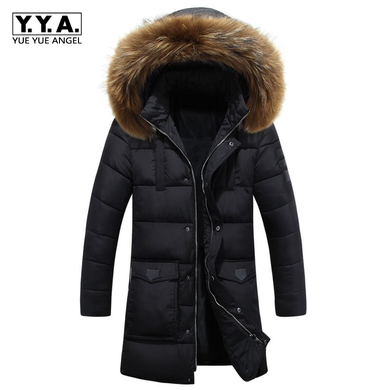 New Fashion Men Fur Hooded Long Jackets High Quality Brand Clothing Casual Winter Jacket Men Nagymaros Fur Collar Parkas 2014 new european and american style high collar coat fur clothing brand men s fashion casual plaid cotton jacket