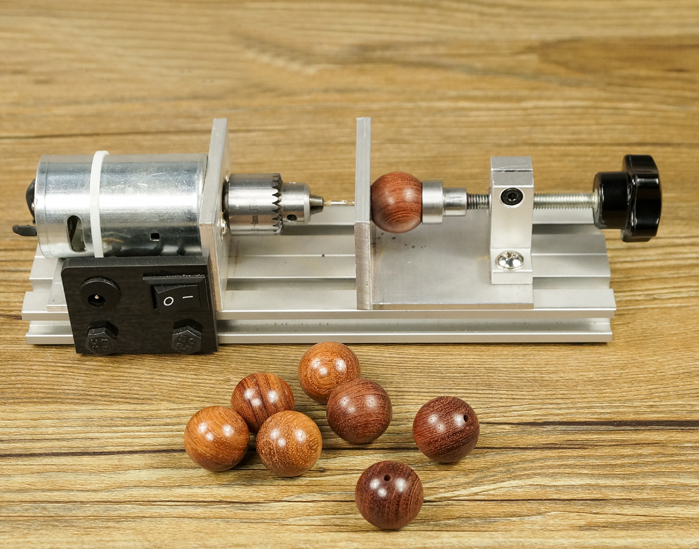 Beads Drilling Machine DIY Wood beads Driller Beads Lathe DIY Tool with Adapter small micro beads polishing lathe cutting car beads machine mini diy woodworking turning lathe c00108