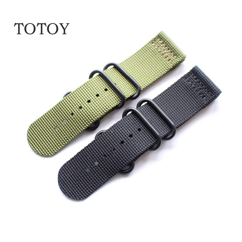 TOTOY Suitable For Garmin  Fenix3 HR Nylon Watchbands, 26MM Black / Green Nylon Strap,Fast Delivery фара fenix bc21r