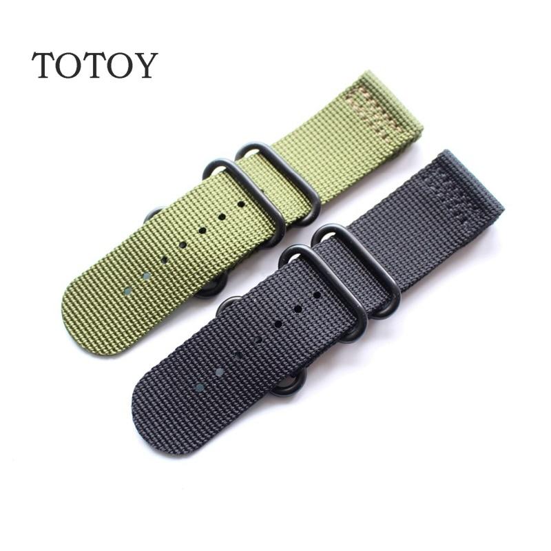 TOTOY Suitable For Garmin  Fenix3 HR Nylon Watchbands, 26MM Black / Green Nylon Strap,Fast Delivery garmin смарт весы index black
