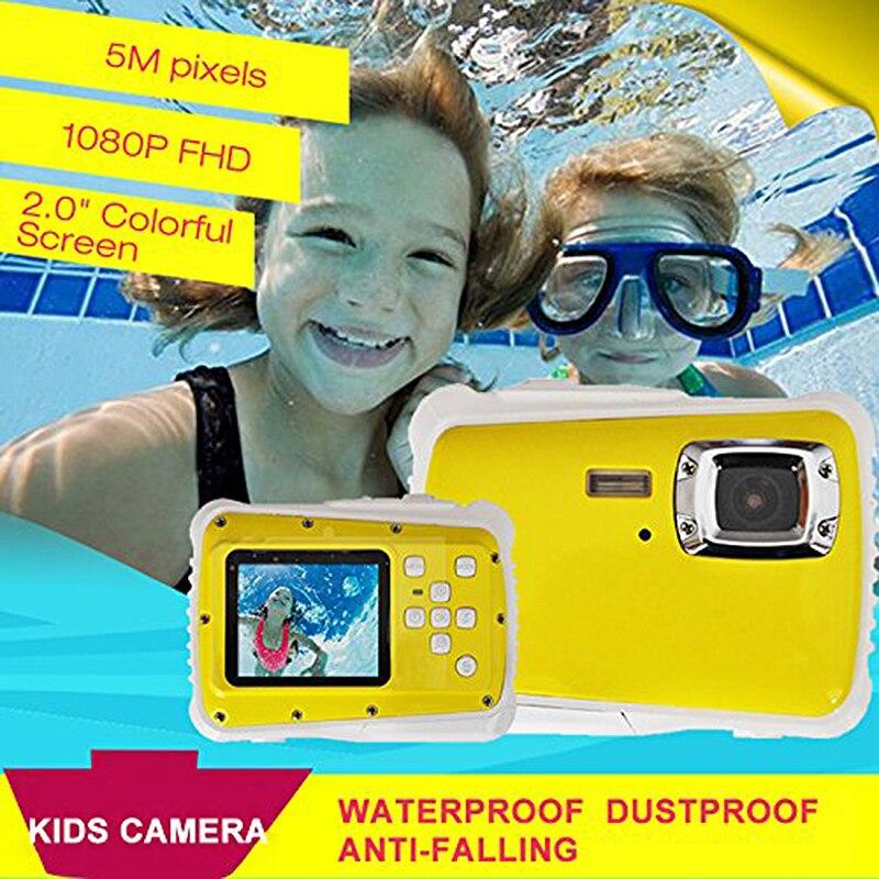 Mini 2 pouces Full HD 720P appareil photo numérique reflex 120 degrés grand Angle pour enfants enfants jouet cadeau étanche à la poussière enfants Camer