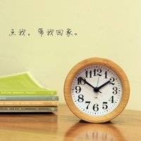 Creative wood clock child quiet alarm clock bedside vintage clocks personality table clock free shipping