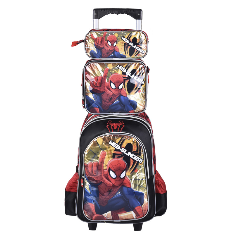 Children backpack with Wheels kids Trolley Bags For School Rolling backpack Bag For girl boy Travel