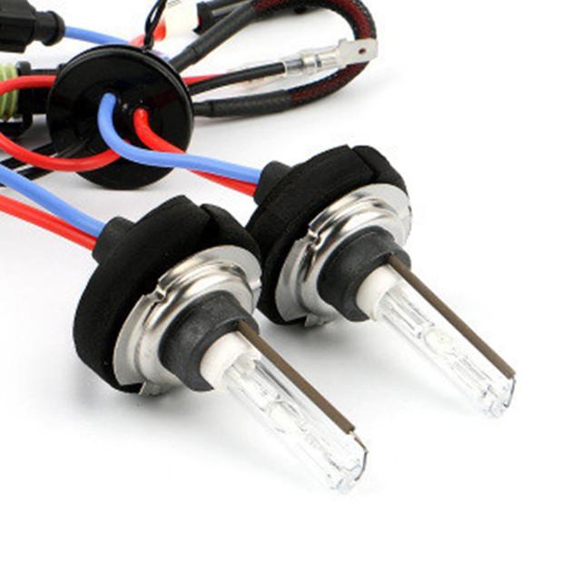 Alquiler de luces exteriores original premium 12 v 35 w hid cnlight h7 lámparas bombillas de un solo haz de luz de xenón 4300 k 6000 k 8000 k, base de metal