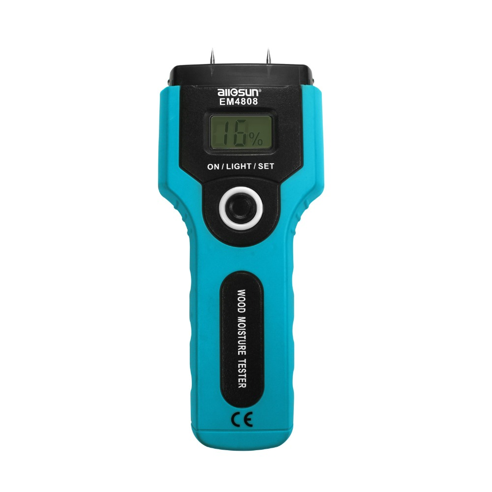 all-sun EM4808 Portable Digital Moisture Meter LCD Display Wood Analyser 7 ranges Measurement Scope 2%-5% Auto Power-off(China)