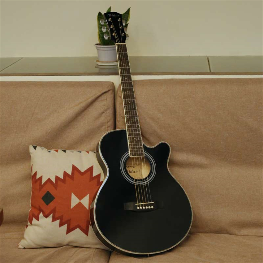New 40'' Acoustic Guitar 20 Frets Rosewood Fingerboard Guitarra Musical Stringed Instruments 6 Strings Guitars With EQ zebra 21 23 4 strings acoustic concert ukulele bass guitar guitarra with built in eq pickup for musical stringed instrument