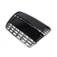 S6 Style Chrome Frame Black Grill Front Bumper Middle Mesh Grille For Audi A6 2005 2011
