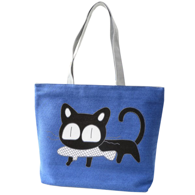2017 New Special Cartoon Cat Fish Handbag