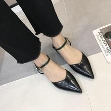 Liren 2019 Summer Fashion Women Pointed Rivet Buckle Flat Heels Sandals Metal Decoration Wrap Toe Shallow Toe Lady Dress Sandals недорого