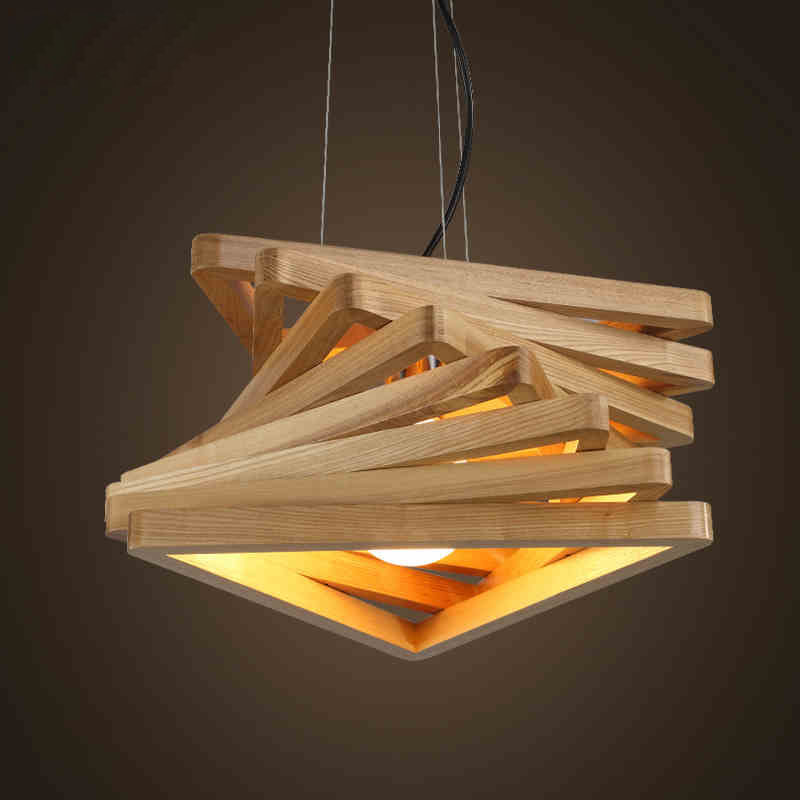 Wooden Hanging Lamp - Home Design