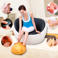 New 360 Degree All around Health Care Reflexology Far Infrared Magnetic Electric Foot Massager Roller Machine As Seen On Tv 2016