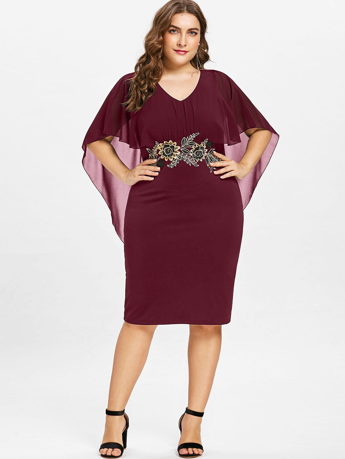 omgAmazon Half Sleeves Plus size Sheath Dress for Party Evening