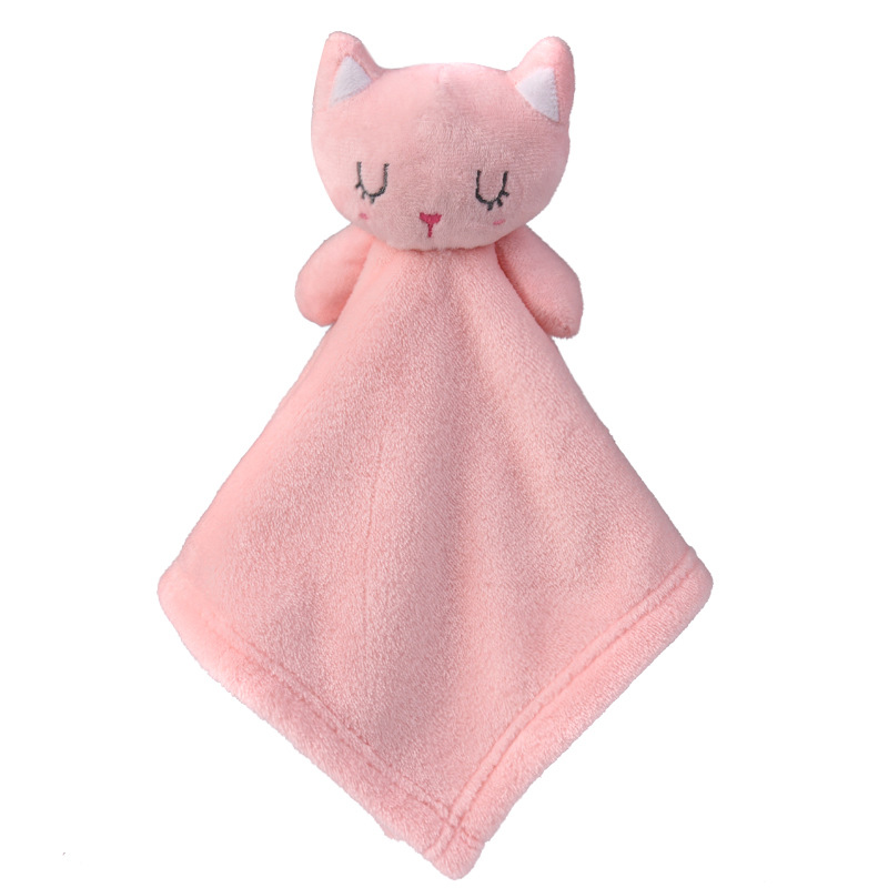 Cartoon Bunny Bear Baby Plush Towel Super Soft Soothing Towel Super Soft Security Blanket Toys Calm Baby Plush Doll Baby Care