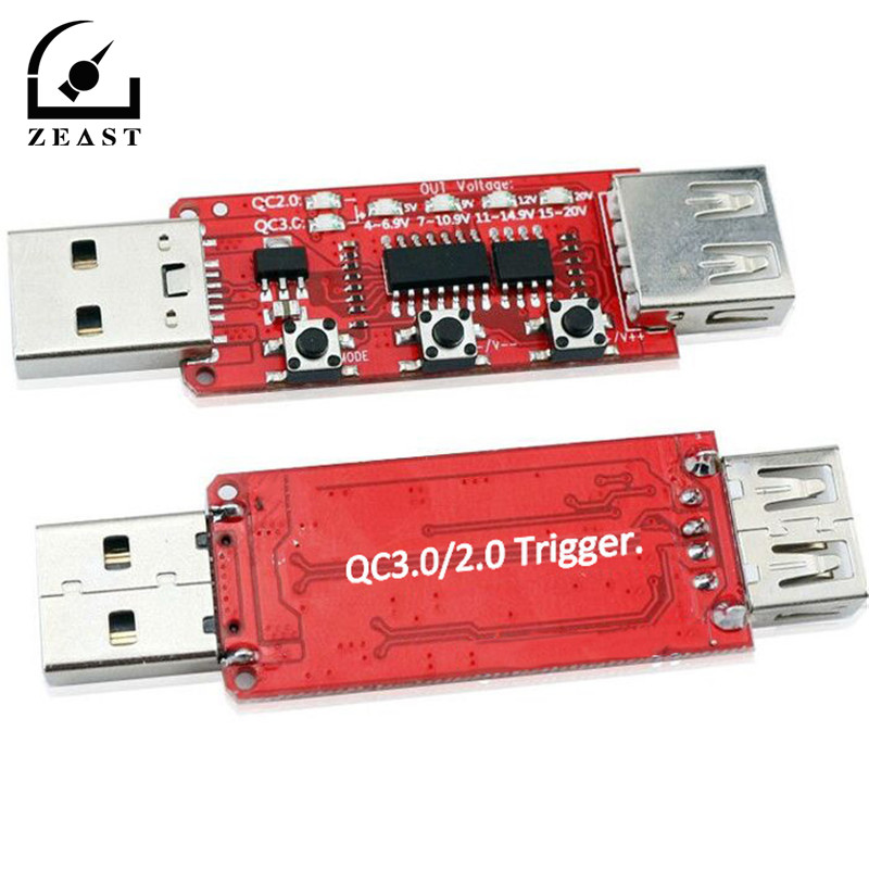 QC2.0/3.0 automatique USB testeur de tension ampèremètre chargeur rapide batterie externe tension déclencheur combiné simulateur de charge rapide