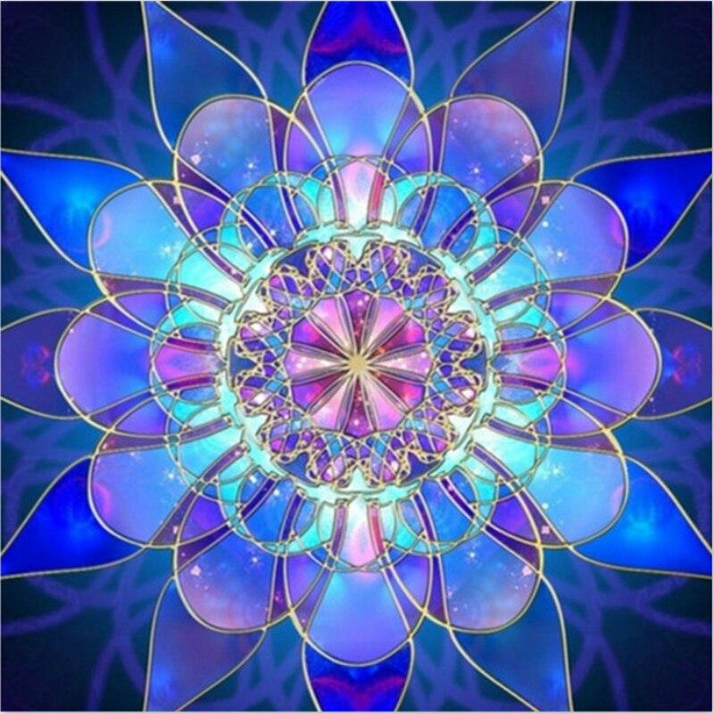 Květiny Full Diamond výšivka Crystal Diamond malba Cross Stitch Vertikální tisk Obrázek Mosaic Home Malby SSYP0021