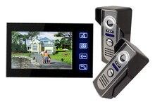 """Freeshipping Llave del Tacto de 7 """"LCD Video de La Puerta Sistema de Intercomunicación Teléfono Wth Cámara de INFRARROJOS timbre eléctrico"""