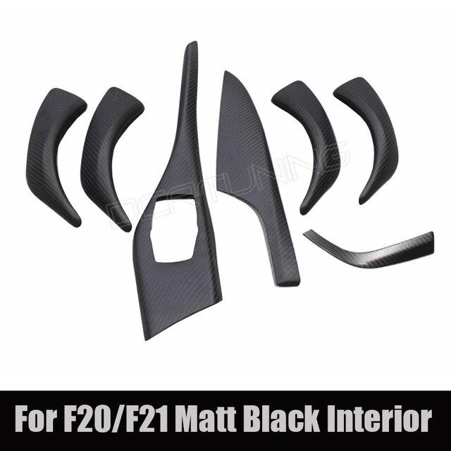Carbon Trim 7 pcs / Set For BMW 1 Series F20 F21 2012 2013 2014 2015 2016 Carbon Fiber Interior LHD Matt Black Finish
