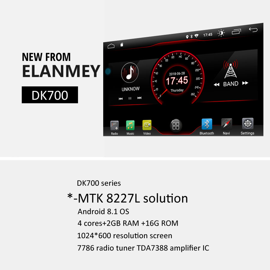 ✓Elanmey android 8 1 car radio for Peugeot 2008 2018 car