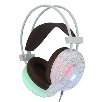 Профессиональный игровой гарнитуры светодио дный света высокой бас Шум Отмена наушники с микрофоном H6 для компьютера 15J Прямая доставка