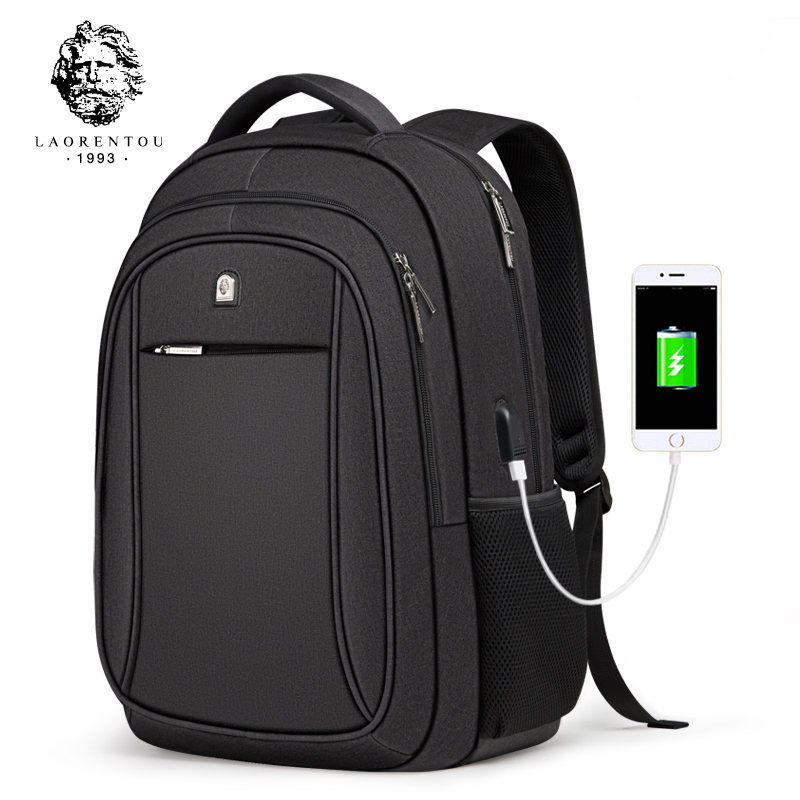 LAORENTOU Casual Backpack Simple High-Capacity Travel Bag Multi-Functional Business Computer Bag School Backpacks For Teenagers
