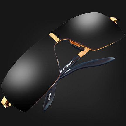 Ophier marca de moda designer de óculos de sol dos homens polarizados condução óculos de sol titanium liga masculinos sem moldura quadrada óculos de sol oculos