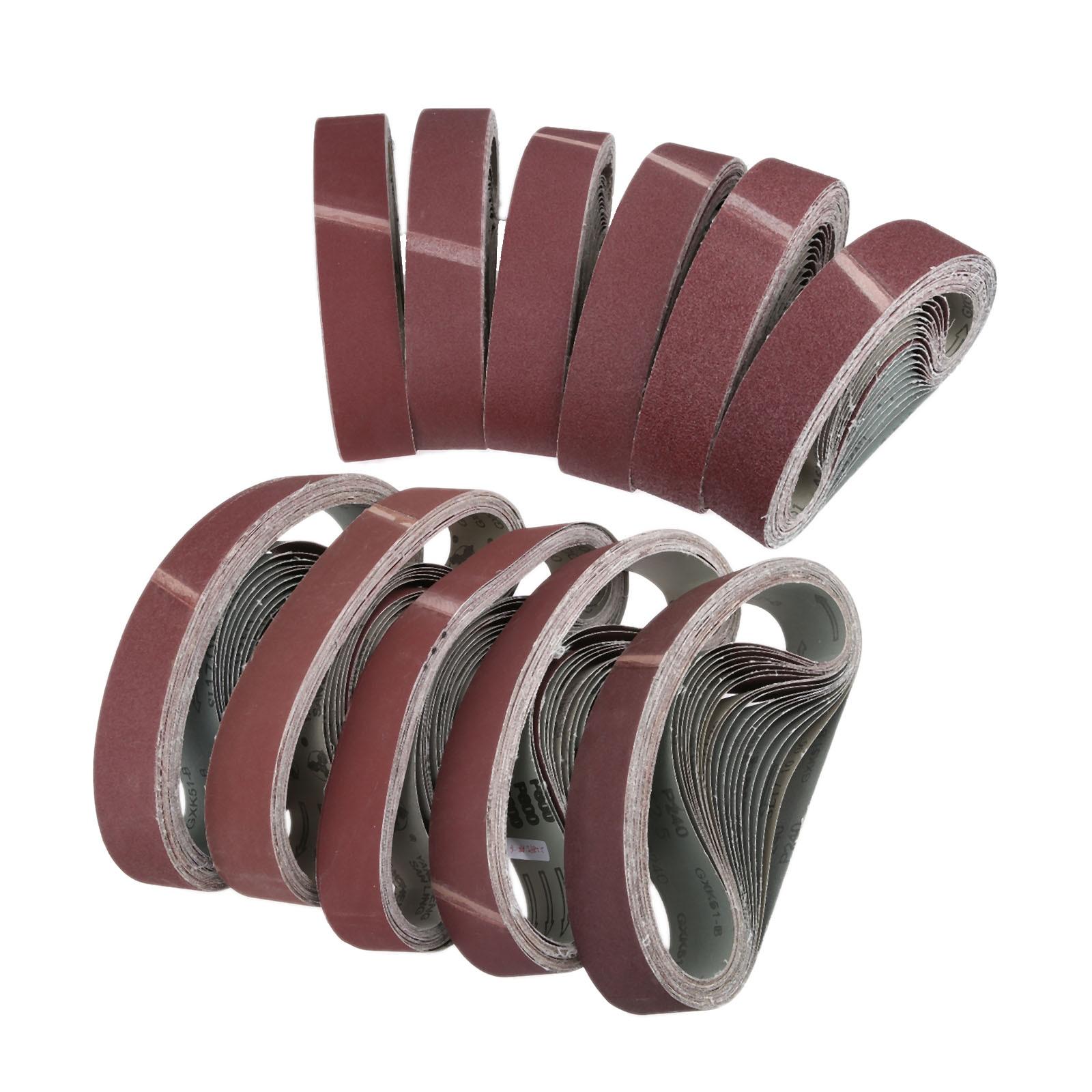 DRELD 10pcs 50*686mm Abrasive Sanding Belts Sanding Paper For Belt Sanders Bench Grinder Grinding Polishing Tool 40-600 Grit
