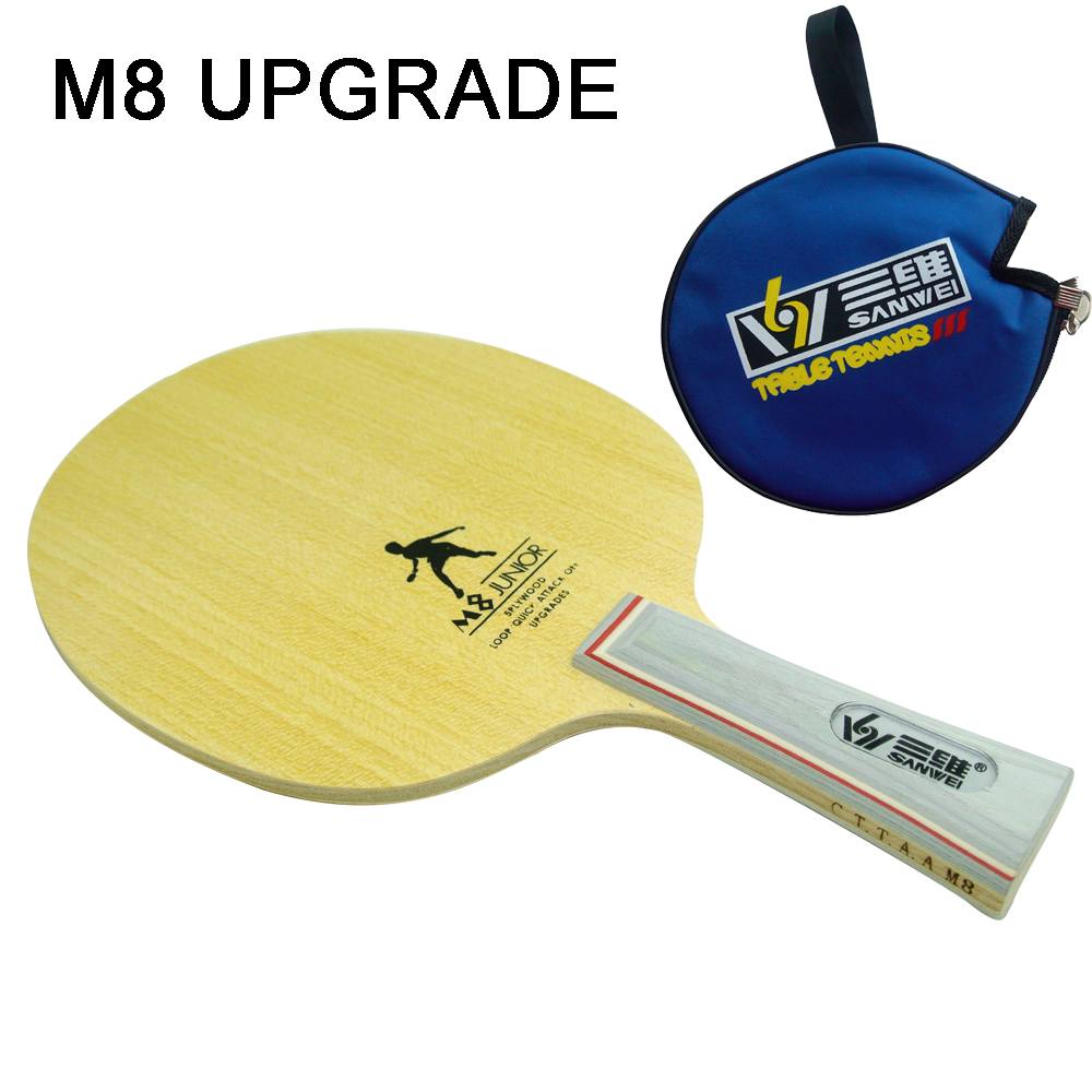 New sanwei m8 junior professional table tennis blade ping for Table tennis
