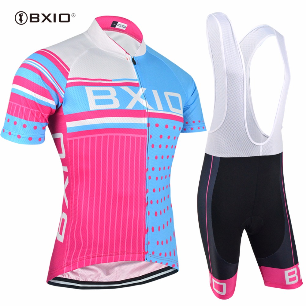 BXIO Women Cycling Sets Pro Team Bike Wear Breathable Riding Chlothes Ropa Mujer Ciclismo Road Bike Clothing BX-0209RB013
