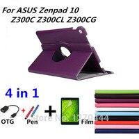 360 Rotating Litchi Skin Leather Case Capa Para Cover For ASUS Zenpad 10 Z300C Z300CL Z300CG