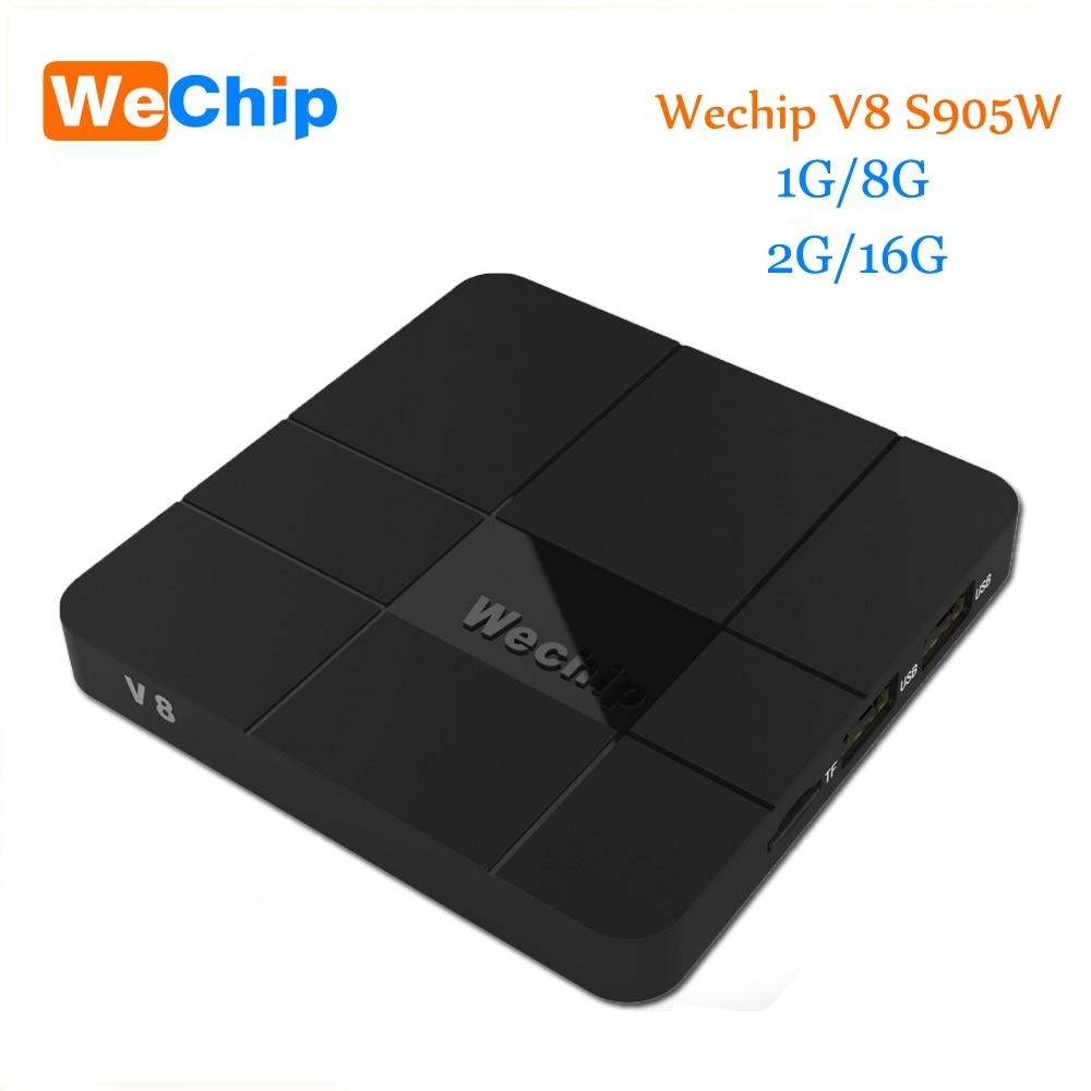 Wechip V8 Android BOX 2G/16G Android 7.1 TV BOX S905W Quad-core Cortex-a53-prozessor Mali-450 MP5 2,4G WIFI Media Player Ott tv box