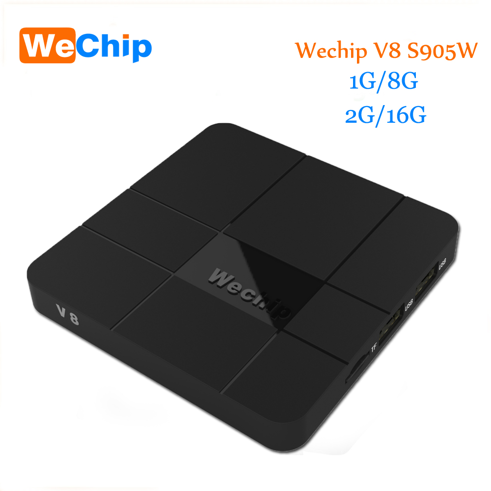 Wechip V8 caja androide 2G/16G Android 7,1 TV BOX S905W Quad-core Cortex-A53 Mali- 450 MP5 2,4g WIFI Media Player Ott tv box