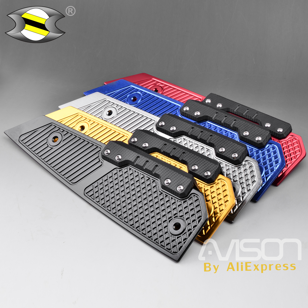 Modified Accessoriess CNC Aluminum FORZA Footrest Footpads Pedals Plate For Honda MF13 Forza300 250 2017 2018