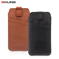 QIALINO Coque For Apple IPhone X Cases Bag Top Layer Cowhide Genuine Leather Pouch Cover For