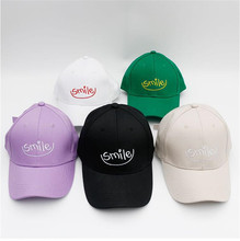 baseball cap men gorra hombre Women Unisex Baseball Cap Smlie Embroidery Visor Outdoor Hat Y610