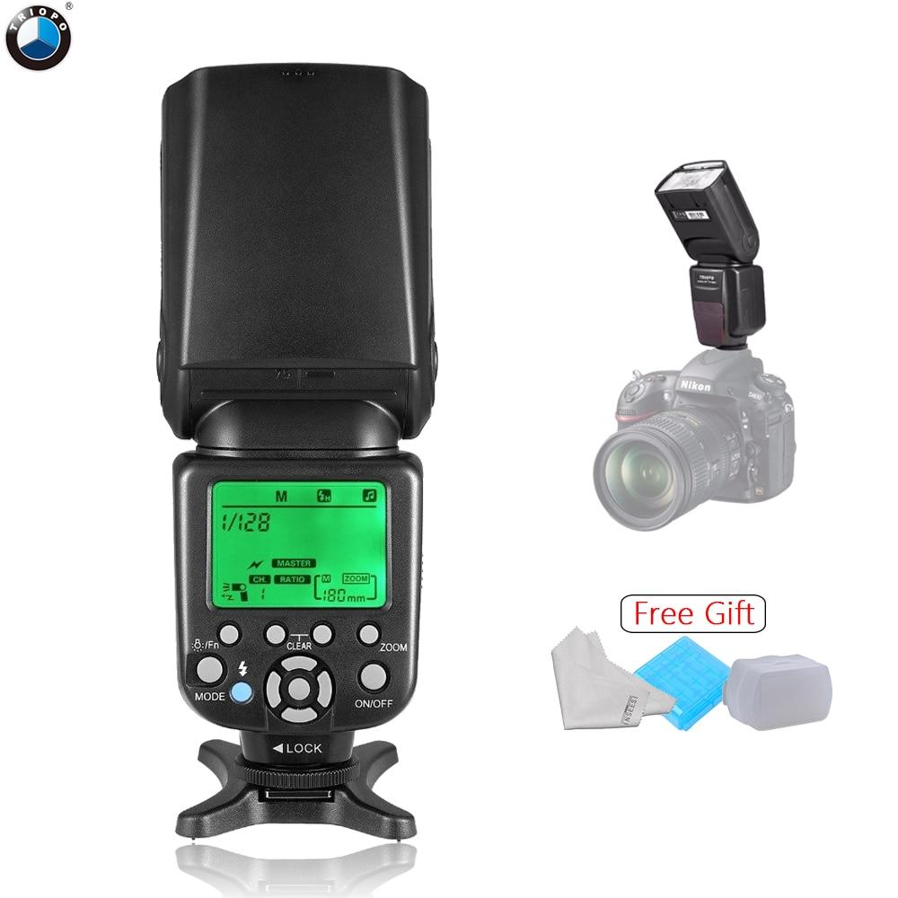 TRIOPO TR-586EX N Sans Fil TTL Flash Speedlite TR-586EX Pour Nikon D750 D7100 D3300 D5100 DSLR Comme YONGNUO YN565EX YN-568EX